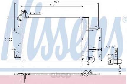 Радиатор кондиционера Nissens 94628