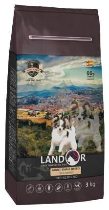 Сухой корм для собак Landor Adult Small Breed, для мелких пород, утка и рис, 3кг