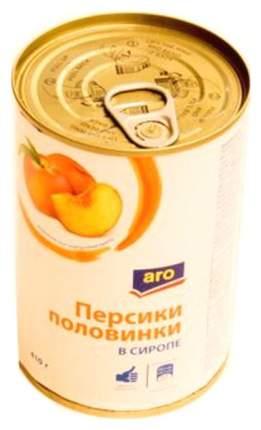 Персики Aro половинки в сиропе 410 г