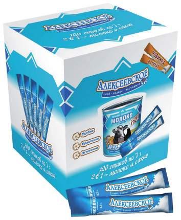Молоко Алексеевское сгущенное 8.5%с сахаром в стиках 7 г 100 штук