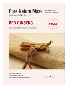 Маска для лица тканевая Secriss Pure Nature Mask Pack- Red ginseng 25мл