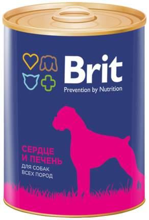 Консервы для собак Brit, сердце, печень, 850г