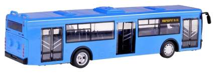 Инерционный автобус PLAYSMART Автопарк (свет, звук), синий, 1:43