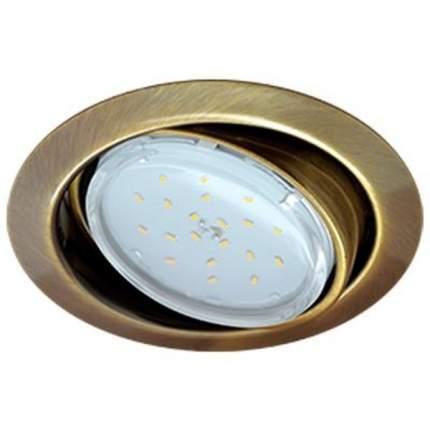 Ecola Gx53-Ft9073 Светильник Встраиваемый Поворотный Черная Бронза 40X120 Fn5390Ecb