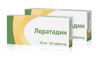 Лоратадин таблетки 10 мг 10 шт.