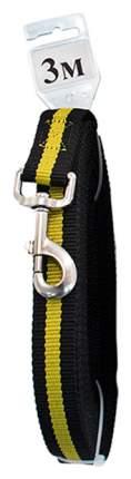 Поводок для собак Дарэлл Чип 021426 Черный 25ммх3м капроновый