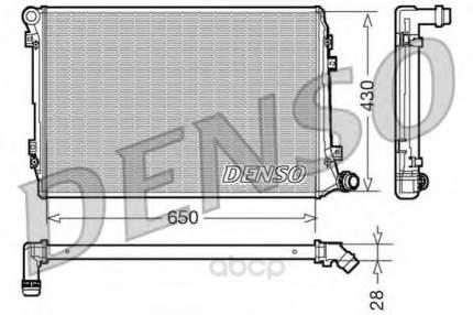 Радиатор системы охлаждения vw passat vii 2.0 tdi 05 Denso DRM32037