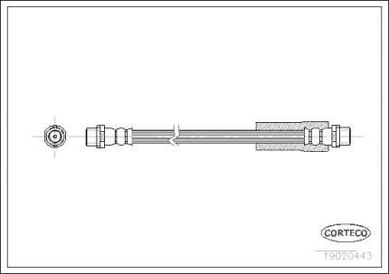 Шланг тормозной CORTECO 19020443