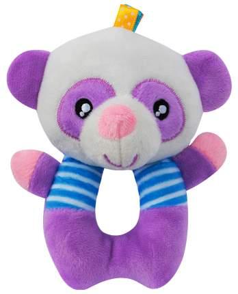 Мягкая игрушка HAPPY MONKEY Панда сиреневая 13*11 см