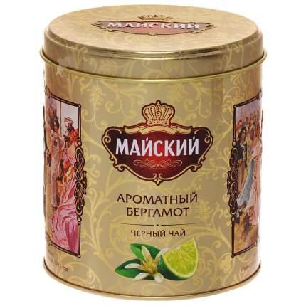 Чай Майский ароматный бергамот черный ароматизированный  крупнолистовой 90 г