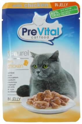 Влажный корм для кошек PreVital Naturel, курица, 85г