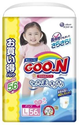Подгузники-трусики Goon для девочек L 9-14 кг 56 шт.