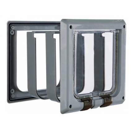 Дверца для кошки TRIXIE 15,8х14,7см с 4 функциями серый
