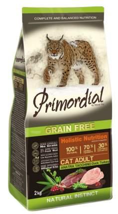 Сухой корм для кошек Primordial Natural instinct, беззерновой, утка, индейка, 6кг