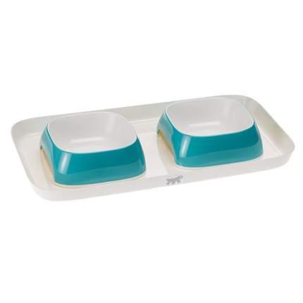 Поднос с мисками Ferplast Glam Tray для животных (800 мл, Голубой)