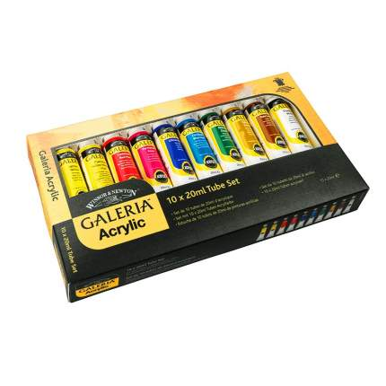 Акриловые краски Winsor&Newton Galeria 10 цветов