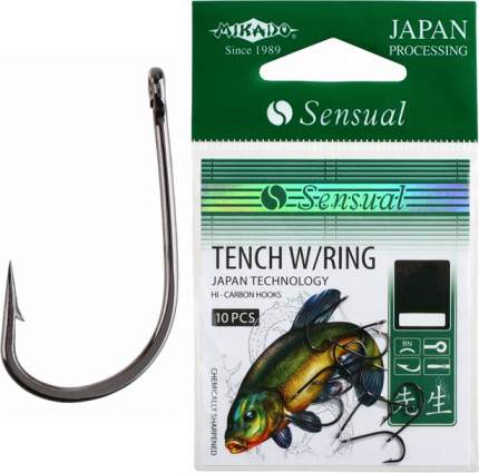 Рыболовные крючки Mikado Sensual Tench W/Ring №10, 10 шт.