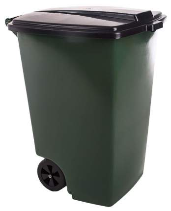 Мусорный бак ЭЛЛАСТИК-ПЛАСТ ЭП 013280 120 л зеленый