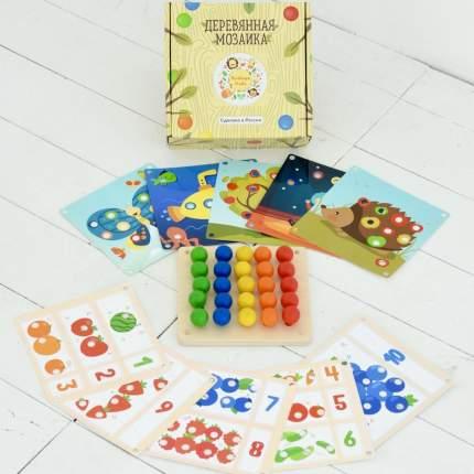 RADUGA KIDS Мозаика деревянная Основной набор, 10 карточек RK1001