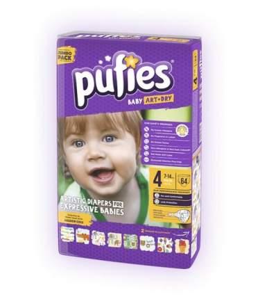 Подгузники для детей Pufies Baby Art Dry Maxi 64 (7-14кг) DUO PACK 1+1, арт 14742