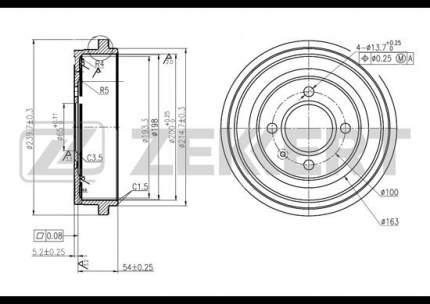 Тормозной барабан ZEKKERT BS-5102