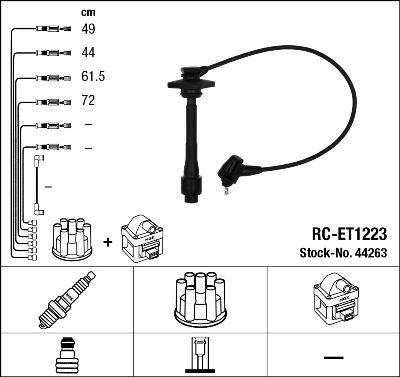 Комплект проводов зажигания NGK 44263
