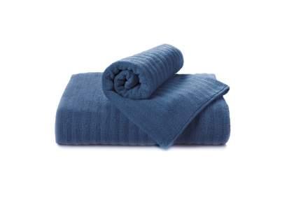Банное полотенце Aquarelle Волна синий