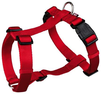 Шлейка для собак TRIXIE PREMIUM, нейлон, красная, S-M, 40-65 см х 15 мм