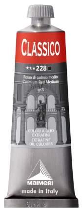 Масляная краска Maimeri Classico кадмий красный средний 60 мл