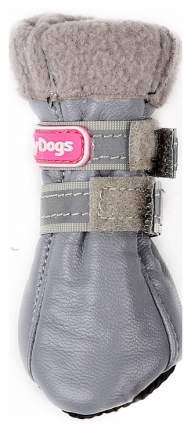 Сапоги для собак FOR MY DOGS, кожаные зимние на флисе, серые, FMD618-2017 Grey 1