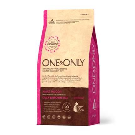 Сухой корм для кошек ONE&ONLY Adult INDOOR, для домашних, утка и рис, 0,4кг