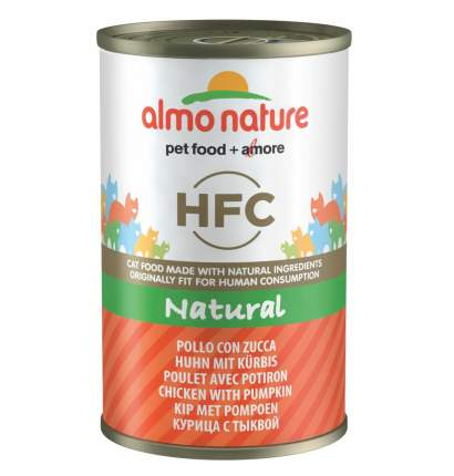 Консервы для кошек Almo Nature HFC Natural, курица, овощи, 12шт, 140г