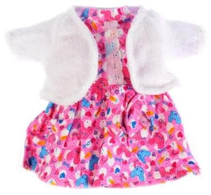 Одежда для кукол 40-42 см Карапуз платье, шубка