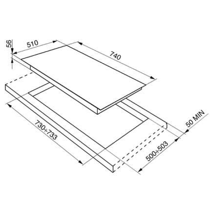 Встраиваемая варочная панель газовая Smeg PVB750 White