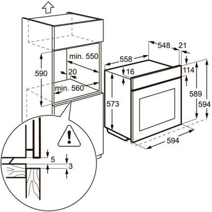 Встраиваемый электрический духовой шкаф Electrolux EOB93410AX Silver