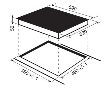 Встраиваемая варочная панель индукционная Hotpoint-Ariston KIS 644 DD Z S Black