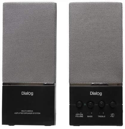 Колонки компьютерные Dialog Melody AM-12B 2x5Вт RMS пластик черные