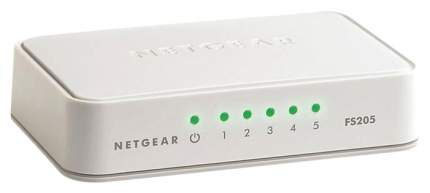 Коммутатор NetGear FS205-100PES Белый