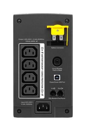Источник бесперебойного питания APC Back-UPS BX700UI Черный