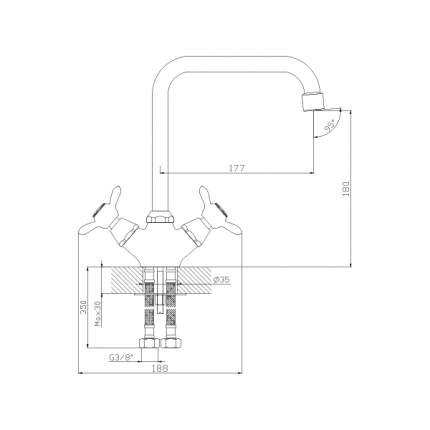 Смеситель для кухонной мойки Rossinka Silvermix Q02-72 хром