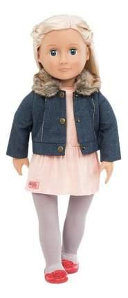 Джинсовая куртка, туника, легинсы, балетки для кукол Our Generation