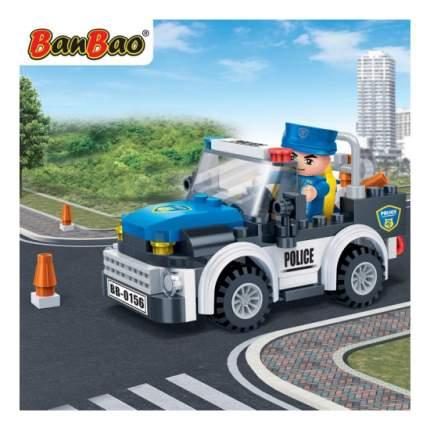 Конструктор пластиковый BanBao Полицейская Машина, 100 деталей