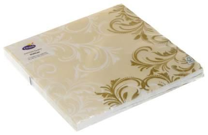 Бумажные салфетки Duni grace трехслойные кремовые 40*40 см 12 штук