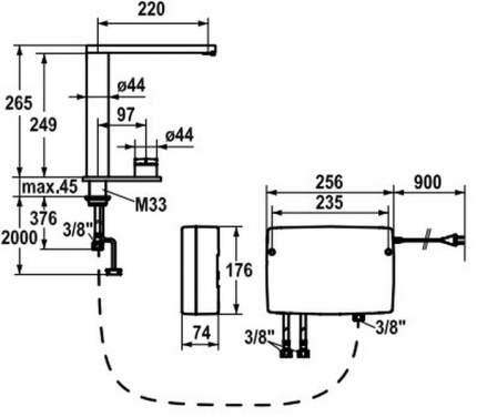 Смеситель для кухонной мойки Franke KWC ONO TouchLightPro 115.0308.219 хром