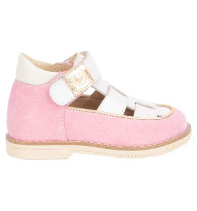 Туфли детские 25002 р.24 кожа, Карамель розовый