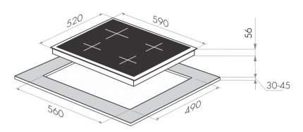Встраиваемая варочная панель индукционная MAUNFELD MVI59.4HZ.2BT-WH White