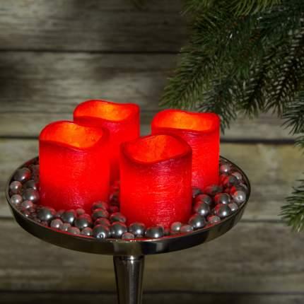 Набор светильников свечей на батарейках Праздничный вечер 6.5*5 см красный 4 шт 372649