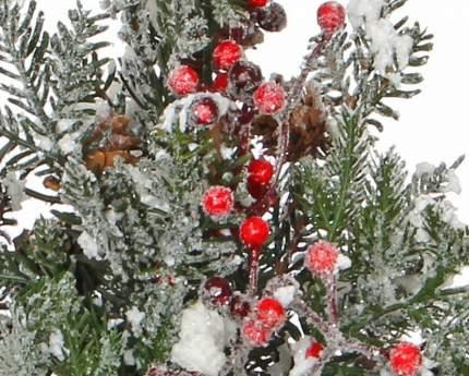 Хвойная композиция Заснеженная Елочка 45 см с шишками ягодами 83092