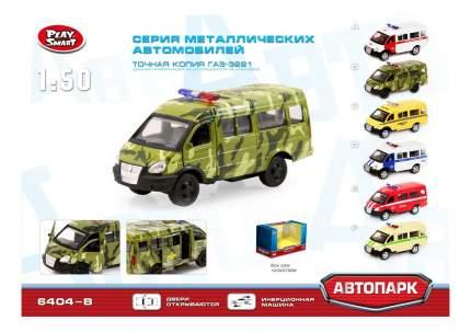 Микроавтобус инерционный Автопарк Военная Газель 1:50 Play Smart А74792