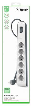 Сетевой фильтр Belkin BSV603vf2M, 6 розеток, 2 м, White